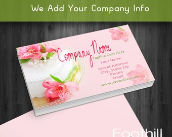 Premade business card design western cowboy hat lasso premade business card design wedding cake bakery party planner professional branding colourmoves