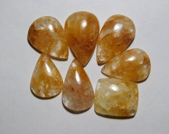 7 pcs lot Natural Margaj Loose Gemstone Cabochon Oval Shape Good Quality Gemstone Supplies New Arrival 139 cts