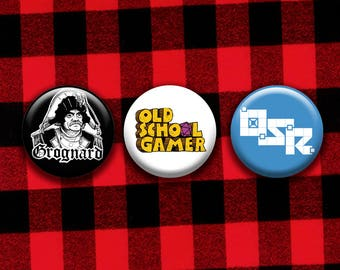 Old School Gamer, OSR, Grognard pinback buttons set
