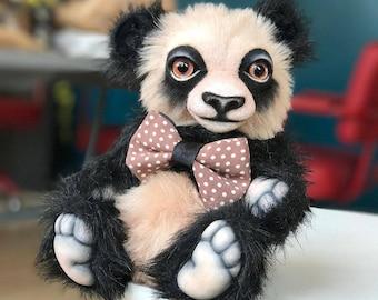 Dobie Panda (ooak author teddy bear, artist teddy bear )