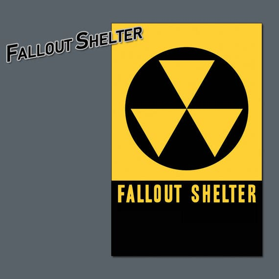 Items Similar To Vintage Fallout Shelter Art Movie Style Poster 11 X