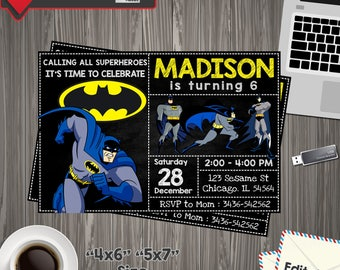 Batman invitations etsy instant download batman invitation batman invitesbatman superheroes dark knightbatman birthday filmwisefo Choice Image