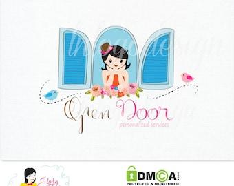 Handrawn Premade Open Door Small Business Logo Design – LD035