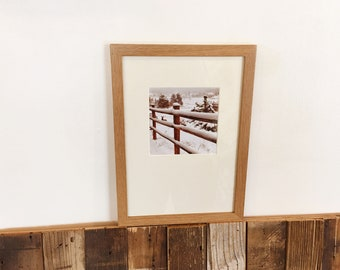 A4 Size Picture Frame in Peewee Style on Oak Natural Finish - IN STOCK Same Day Shipping - Handmade Frame 210 x 297 mm - 8.3 x 11.7 inches