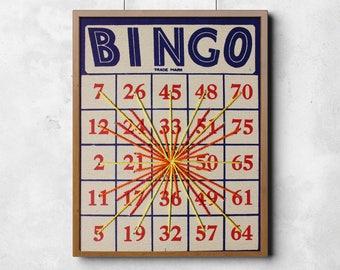 Art Print: Vintage Bingo String Art