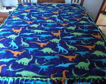 Dinosaur handmade fleece blanket