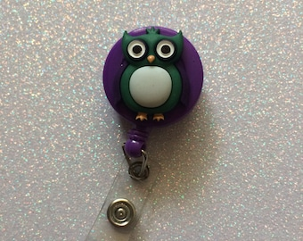 Retractable Owl badge holder retractable badge holder