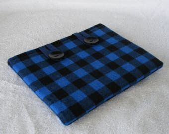 """Blue Buffalo Print, 8 Inch Tablet Cover, Samsung, Nook, Kindle. 8 Inch Tablet Sleeve, 8 Inch Tablet Case, Small Tablet Cover, 9"""" x 6 3/4"""""""