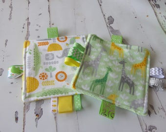 Baby Jungle crinkle toys, set of 2, baby shower gift, baby girl, baby boy, busy moms toys, jungle theme, new