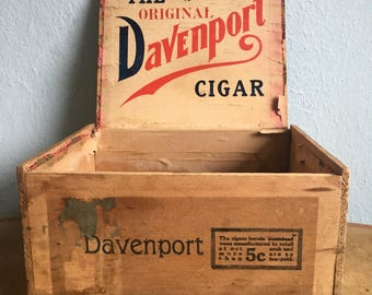Vintage Davenport Cigar Box