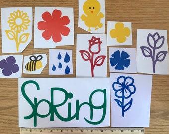 Spring Window Clings