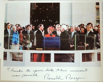 Ronald Reagan Inagraration Photograph and Letters