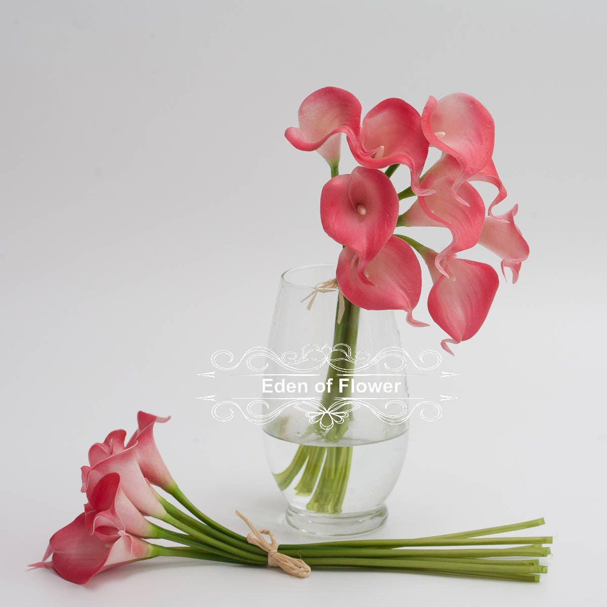 Pink Calla Lilies Real Touch Flowers for Bridal Bouquets Wedding ...