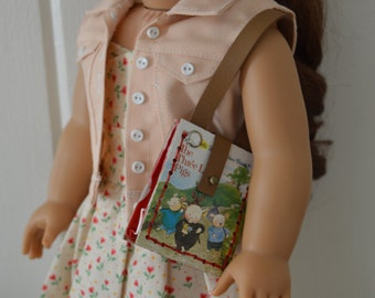 """Three Little Pigs Book Purse for 18"""" play dolls such as American Girl® Dolls"""