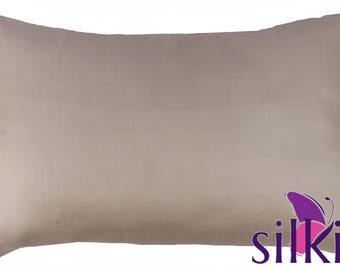 ROSE GOLD 100% Pure Mulberry 19 momme Silk Pillowcase Queen Size 50x75cm (20x30in) 2 Faces Hypoallergenic Hair Beauty (with Hidden Zipper)
