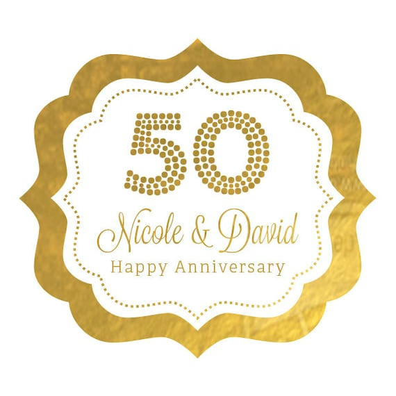 50th Anniversary Stickers 50th Birthday Stickers 50th
