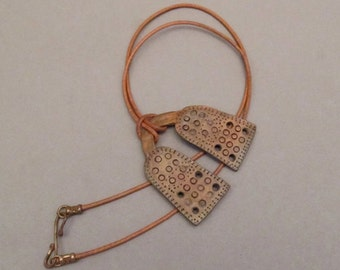 Two Panel Bronze Necklace