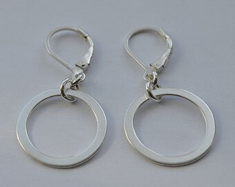 Sterling Silver Lever Back Earrings 02