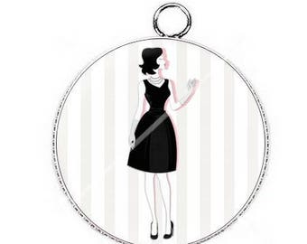 Pendant cabochon resin so chic woman fashion 6