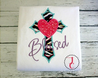 Blessed Shirt, Religious Shirts, Jesus Shirts, Church Shirt, Girl Coming Home Outfit, Christian Baby, Baby Shower Gift, Cute Girl Clothes