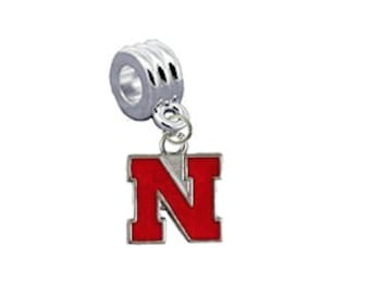 Nebraska Huskers European Charm for Bracelet
