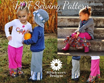 PDF Pants Pattern, PDF Sewing Pattern, Unisex Pattern, Child Clothes Sewing, Boys Pants Pattern, Girls Pants Pattern,Shorts Pattern