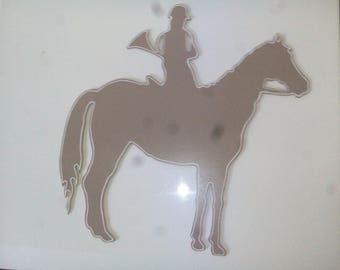horse and rider, wooden decoration