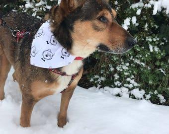Scandinavian bear design handmade dog bandana neckwear.