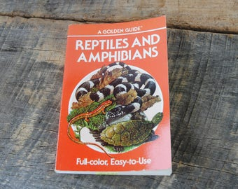 Vintage Reptiles and Amphibians A Golden Guide 1987