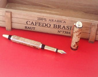 Handmade Maple Burl fountain pen