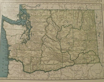 Spokane wall art etsy washington mapseattle tacoma olympia vancouver spokaneusa state mapsunited states wall gumiabroncs Gallery