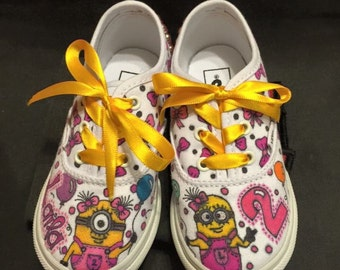 Custom designed shoes for toddler! (Girl minion)