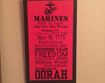 U.S. Marines Subway Sign