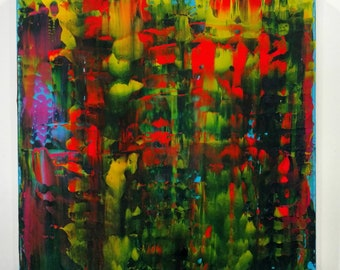 Wild Kingdom  (Abstract Expressionist Painting) Free shipping