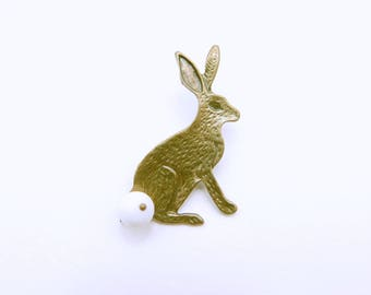 Rabbit Brooch, Bunny Brooch