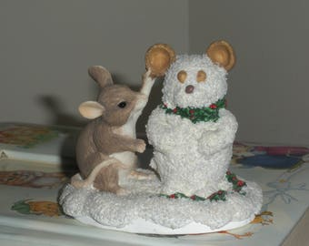 Mouse and Snowman by Silvestri