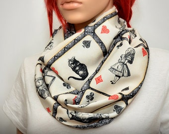 Alice in wonderland themed Infinity scarf