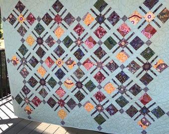 Aboriginal fabric quilt