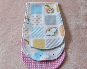 Baby Burp Cloths, Set of Three  BabyGirls Burp Cloths, Baby Girl Gift, Burp Cloths
