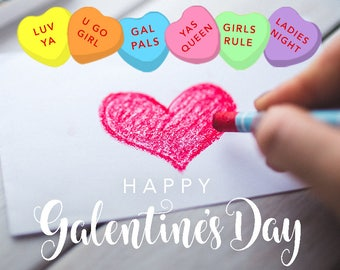 Galentine's Day Snapchat Filter - Instant Download!