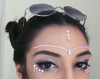 PixieLust Face Jewels Gem Bindi Body Jewelry Stickers Rhinestone Tattoo - Pastel
