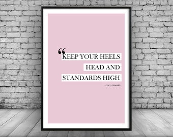 Fashion Quote Home Decor Wall Print Picture Poster Designer Art Gift Christmas