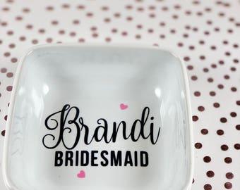 Ring Dish | Jewelry Dish | Ring Holder | Bridesmaid Ring Dish | Engagement Gift | Bridal Party Gift | Wedding Party
