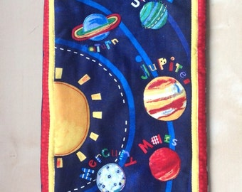 Solar System Planets Sun Quilted Wall Hanging