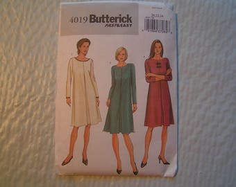 Butterick Pattern 4019 fast easy Miss Petite Dress