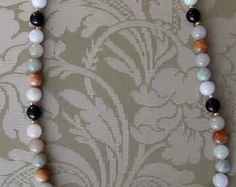 multicoloured  jade necklace