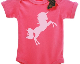 Unicorn Silhouette Babygrow Vest Top Cute EBG78