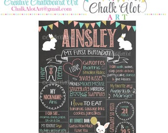 Some Bunny is One Birthday Chalkboard, Bunny Birthday, Birthday Poster, Some Bunny Chalkboard, First Birthday Chalkboard, Milestone