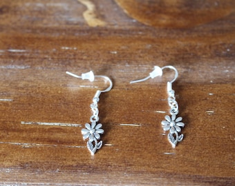 Earrings # color silver with ease