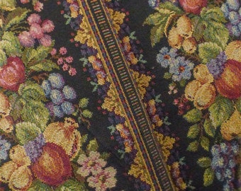 Multi Texnova Fruit Floral Stripe Tapestry Decor Fabric, Fabric By The Yard